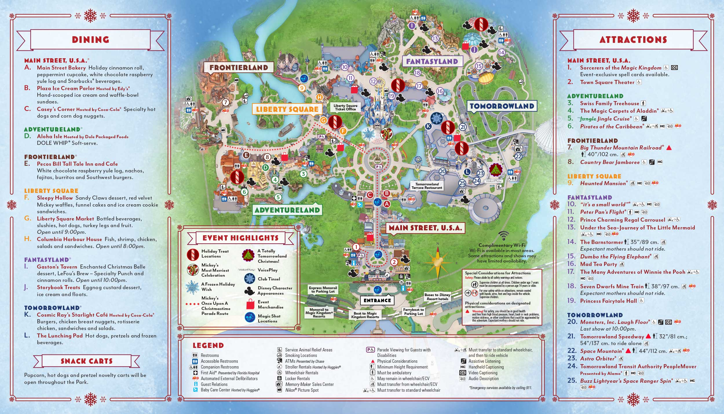 Mickey's Very Merry Christmas Party Map